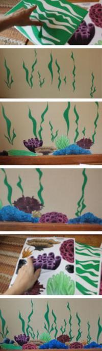 Coral Wall Decals -Undersea Ocean Floor Kids Wall Decals