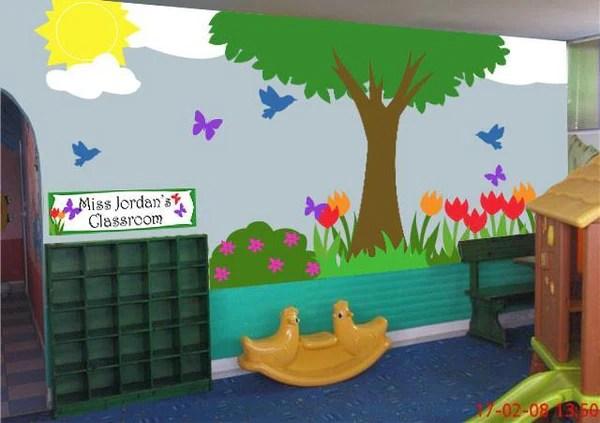 Fun Outdoor Scene Mural For School Classrooms