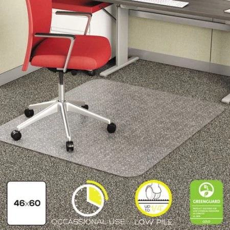 office chair mat 45 x 60 potato chip eames deflecto duramat moderate use for low pile carpet with lip clear