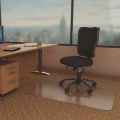 Office Chair Mat 45 X 60 Stability Ball Desk Deflecto Duramat Moderate Use For Low Pile Carpet With Lip Clear