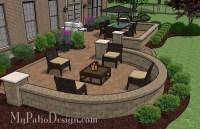 Beautiful Backyard Patio Design with Seat Wall | Download ...