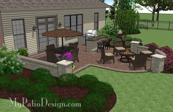 creative backyard patio design