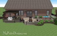 Creative Brick Patio Design with Pergola and Hot Tub ...