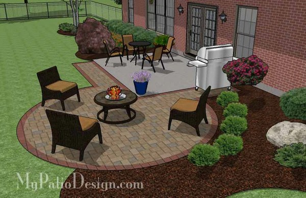 backyard fire pit chairs counter height tables and diy circle patio addition design with grill pad   download – mypatiodesign.com