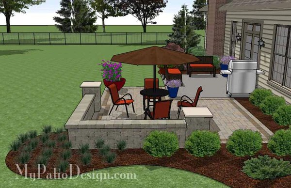 Diy Patio Addition Design With Seat Wall Download Plan