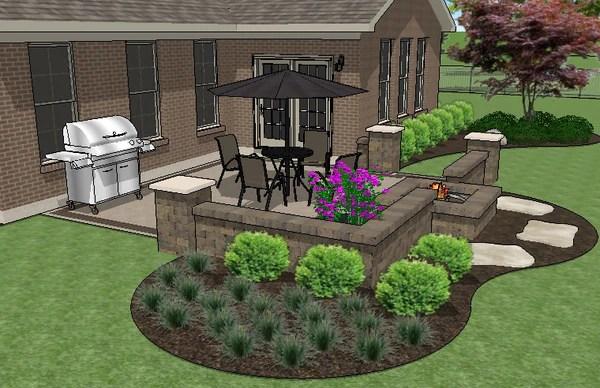 diy square brick patio design