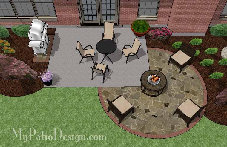 155 sq ft diy stone circle patio addition design