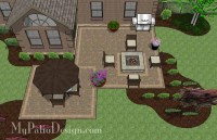 Fun Family Patio Design with Fire Pit | Download Plan ...