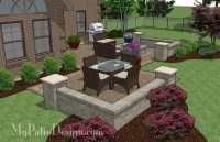 Fun Family Patio Design with Seat Walls | Download Plan ...