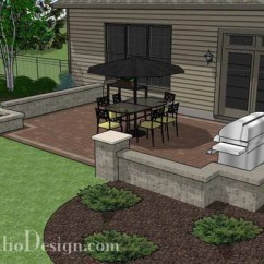 Tall Square Kitchen Table And Bath Showrooms Near Me Rectangular Patio Design With Seat Walls Fire Pit ...