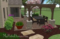 Simple Outdoor Living Design with Pergola   Download Plan ...