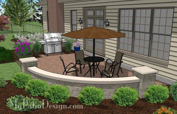 colorful kitchen chairs personalized items 315 sq. ft. - small concrete paver patio design with seat ...