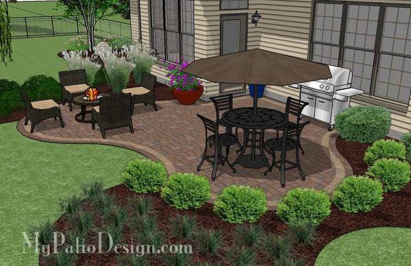 small backyard patio design ideas Small Outdoor Living Patio Design | Downloadable Plan