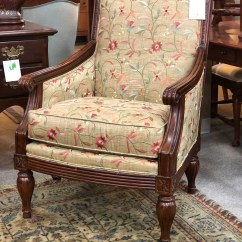 Floral Upholstered Chair Hanging Ebay Au Petersons Consigning Design