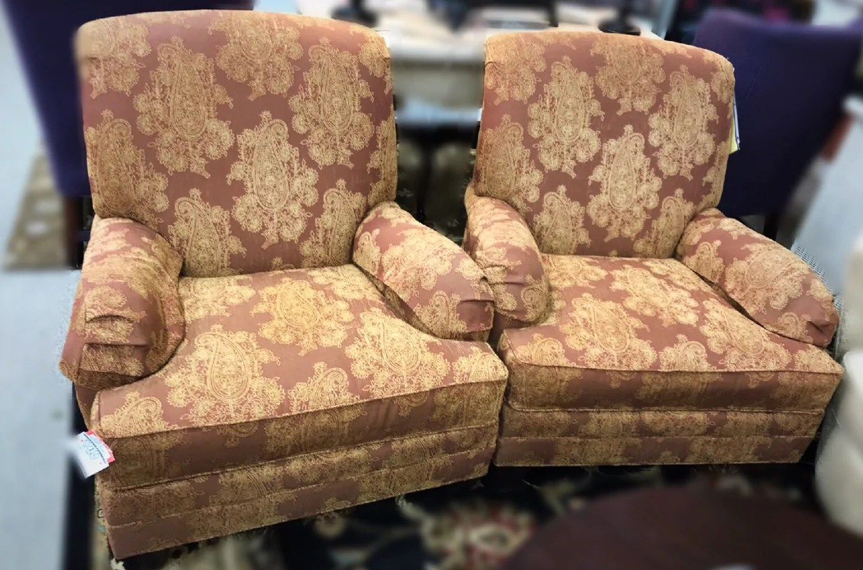Ethan Allen Club Chairs Ethan Allen Club Chairs Pair