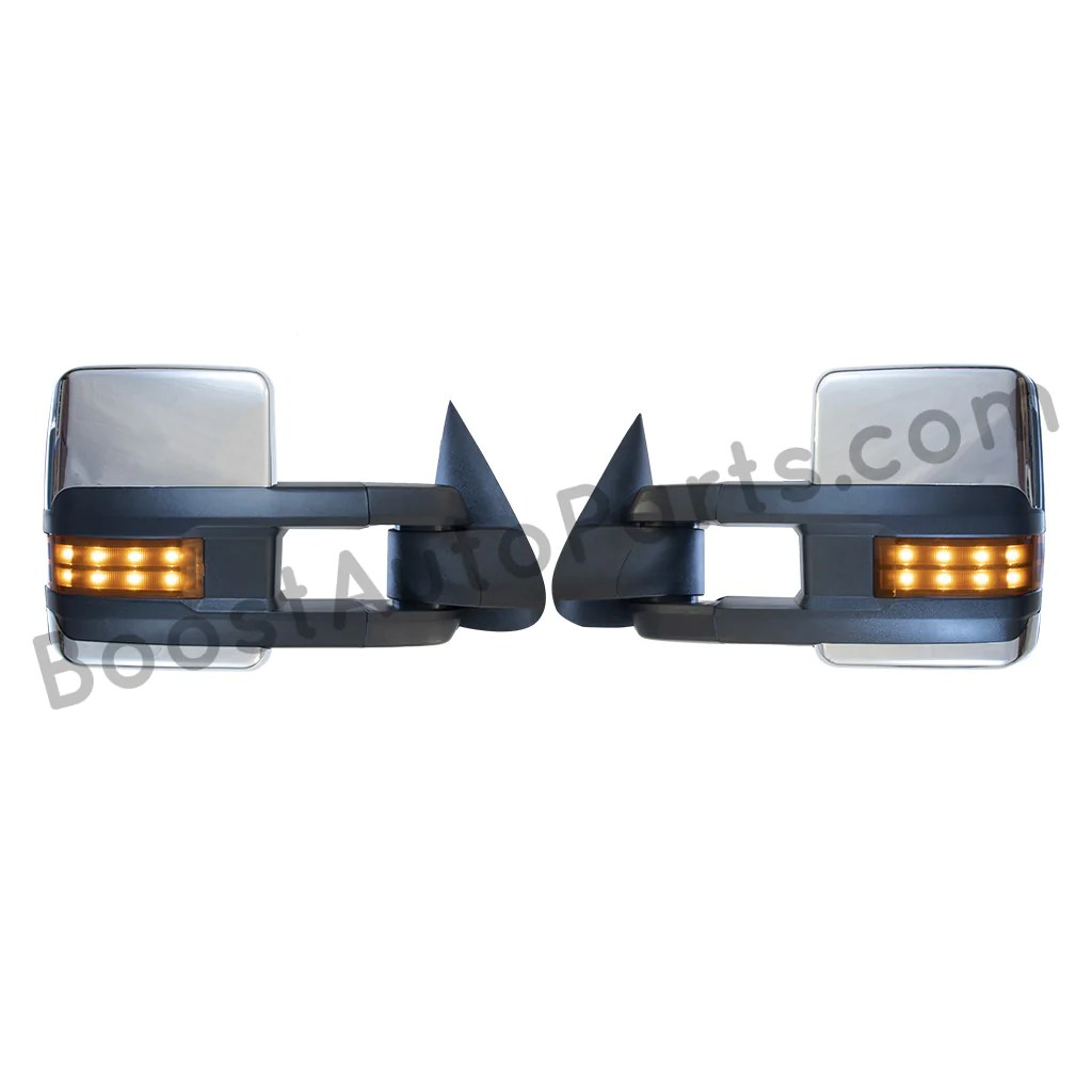 small resolution of boost auto parts tow towing mirrors mirror chevy gm gmc silverado sierra 1500 2500hd duramax black