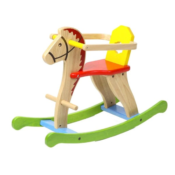 Classic Wooden Rocking Horse With Removable Guard