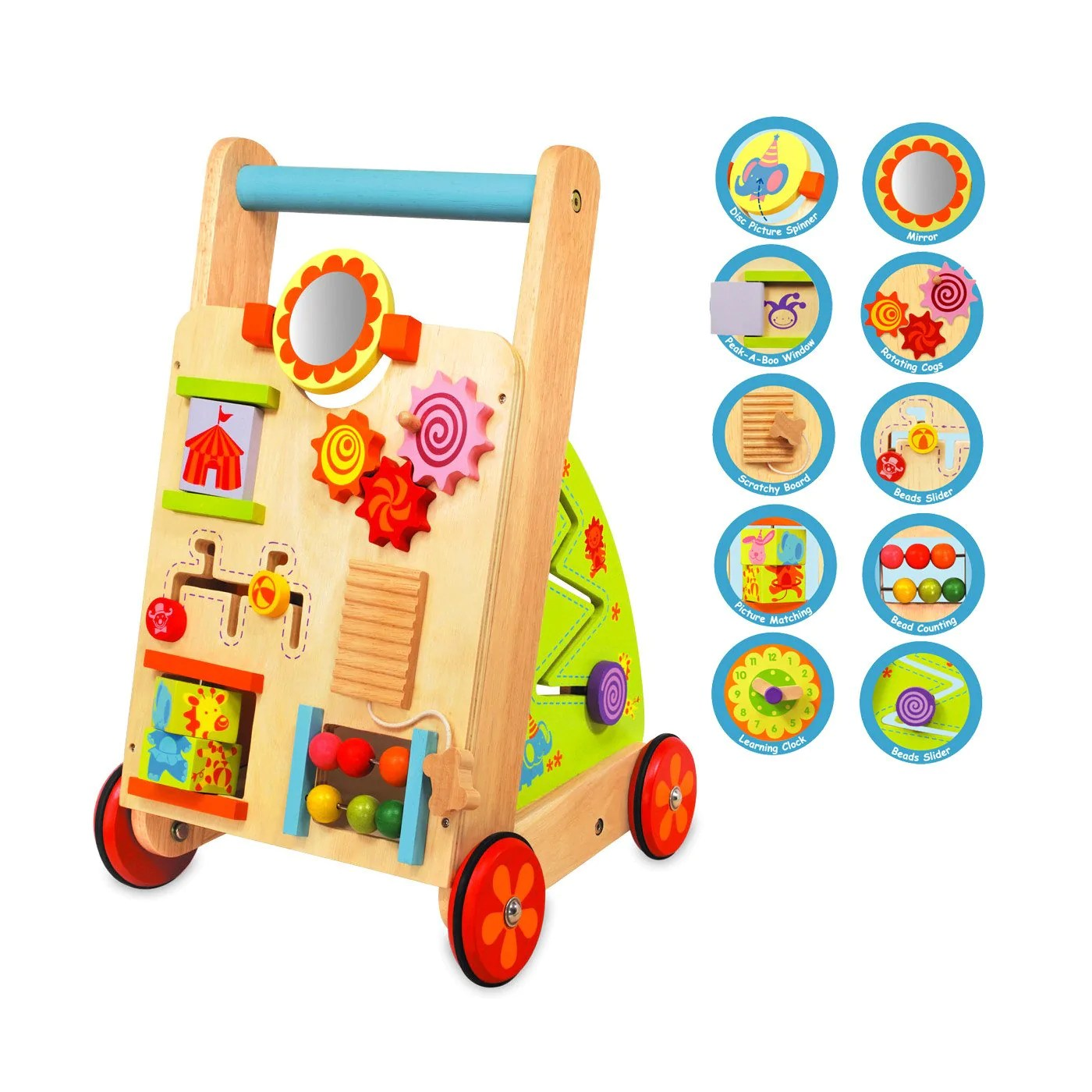 Im Toy Wooden Activity Baby Walker Little Earth Nest