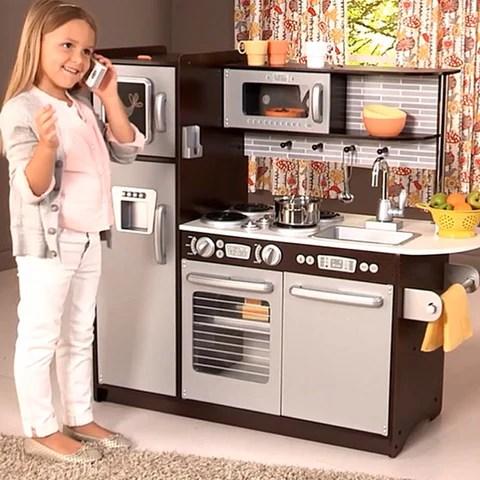 Kidkraft Uptown Espresso Kitchen 53260 - Kitchen Design ...