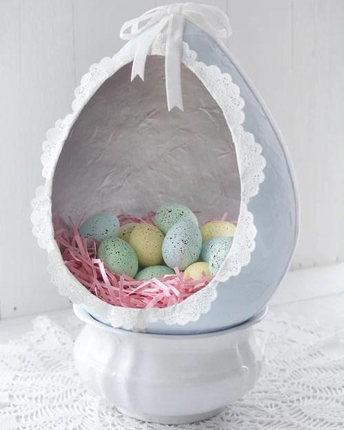 Paper Mache Easter Egg Diorama  Smile Mercantile Craft Co