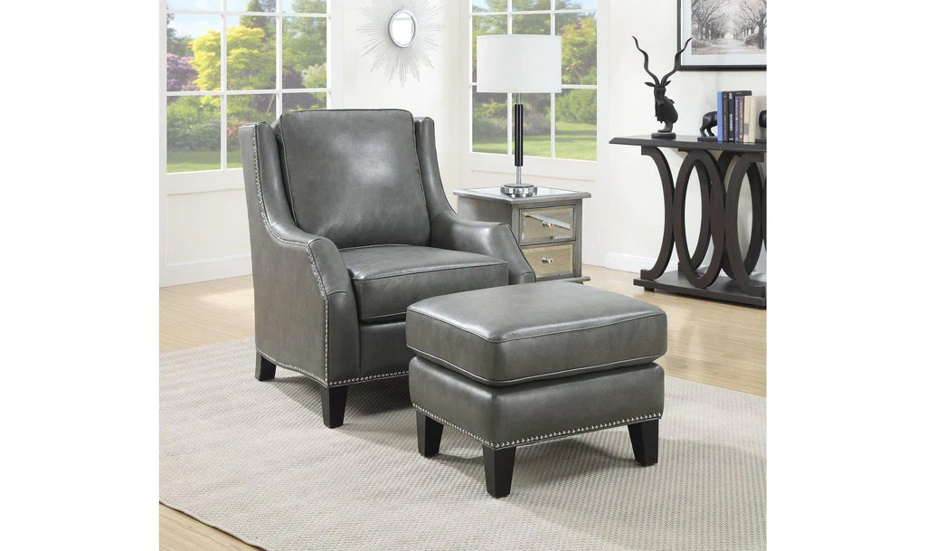 Chairs With Ottoman Accent Chair Ottoman Grey