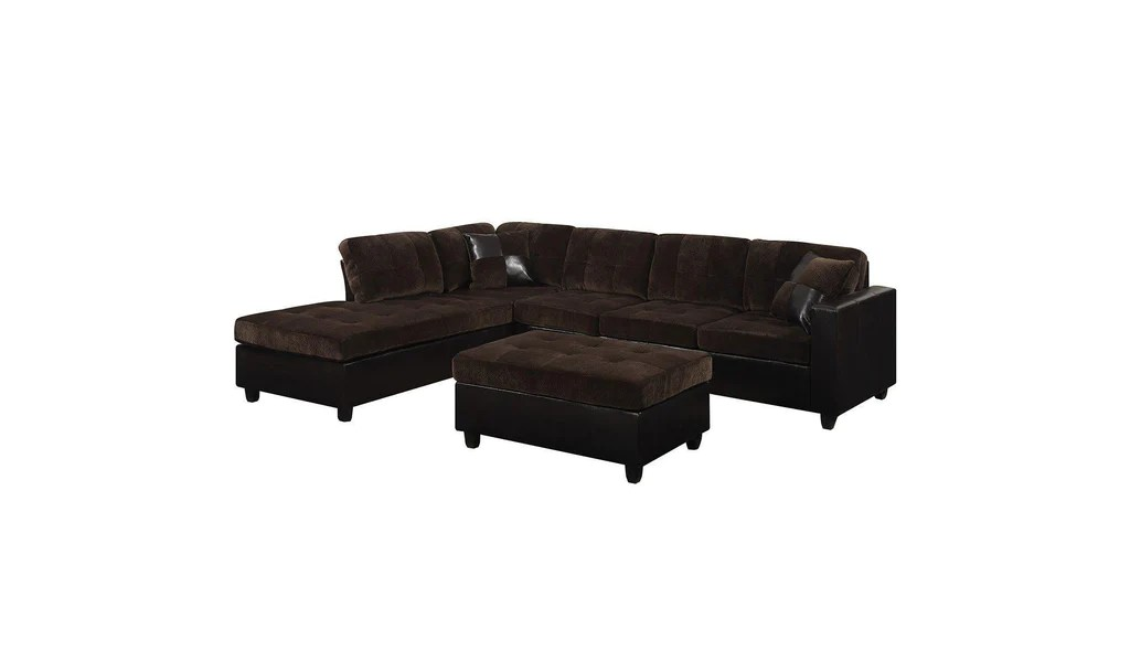 2 piece brown leather sofa u shaped sectional with recliners mallory jennifer furniture