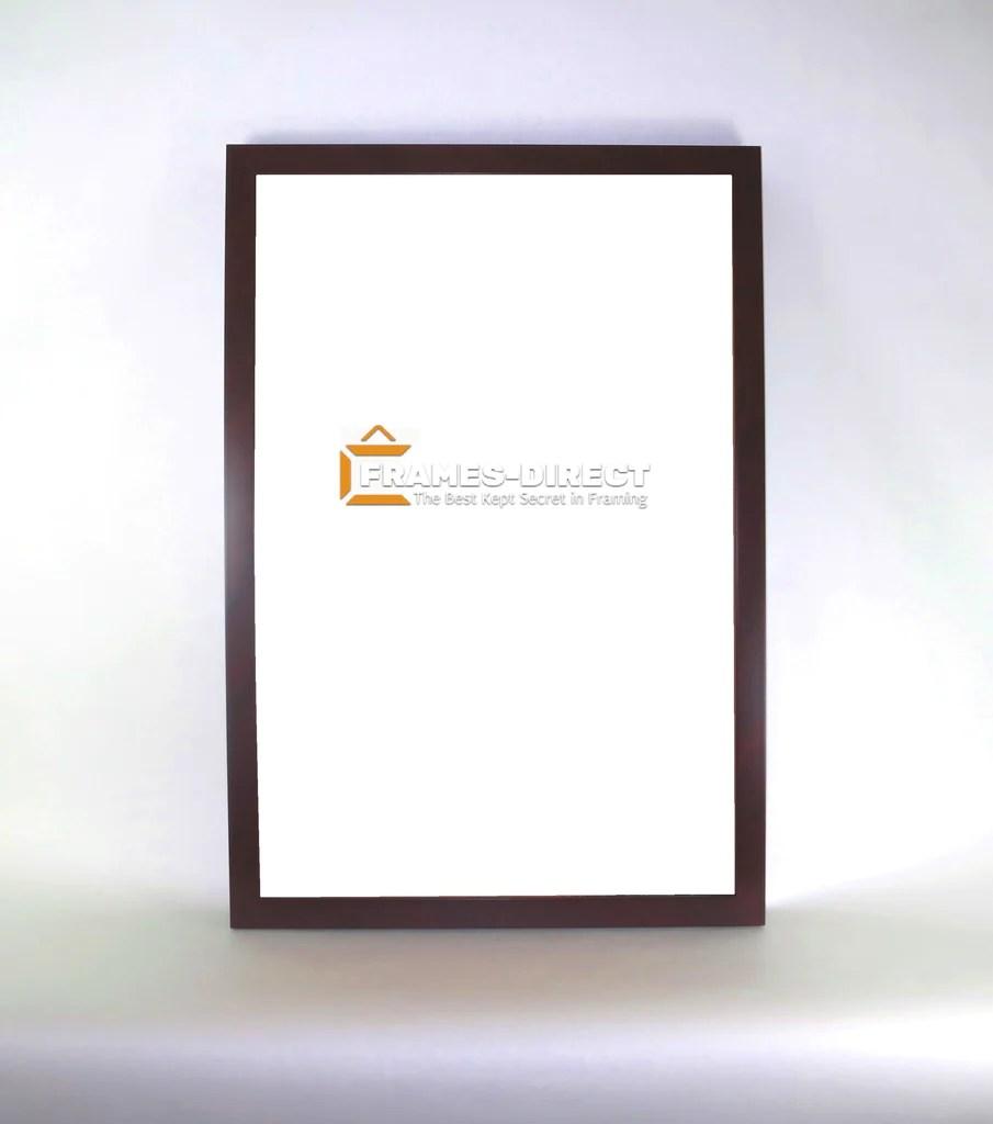 po1251 mahogany burl polymer poster frame 16x24