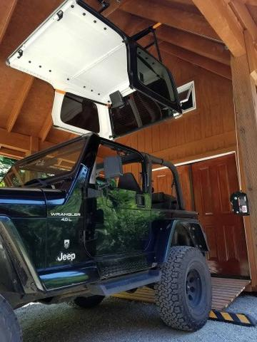 Jeep Hardtop Removal One Person : hardtop, removal, person, J-BARR:, Wrangler, Hardtop, Removal, Hoist, Storage, Systems