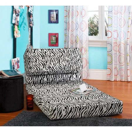 your zone flip chair green glaze lawn usa kids,teens, convertible small space lounge bed – vick's great deals