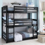 Kids Unique Twin Over Twin Triple Convertible Small Space Saving Bunk Vick S Great Deals