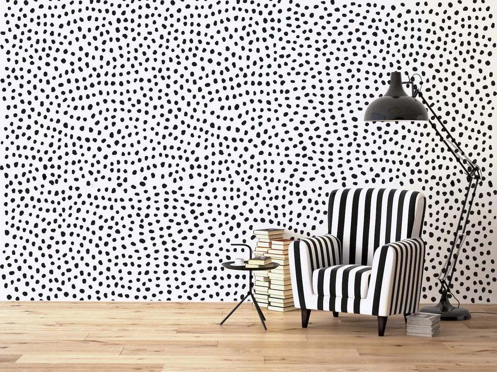 irregular polka dots wall