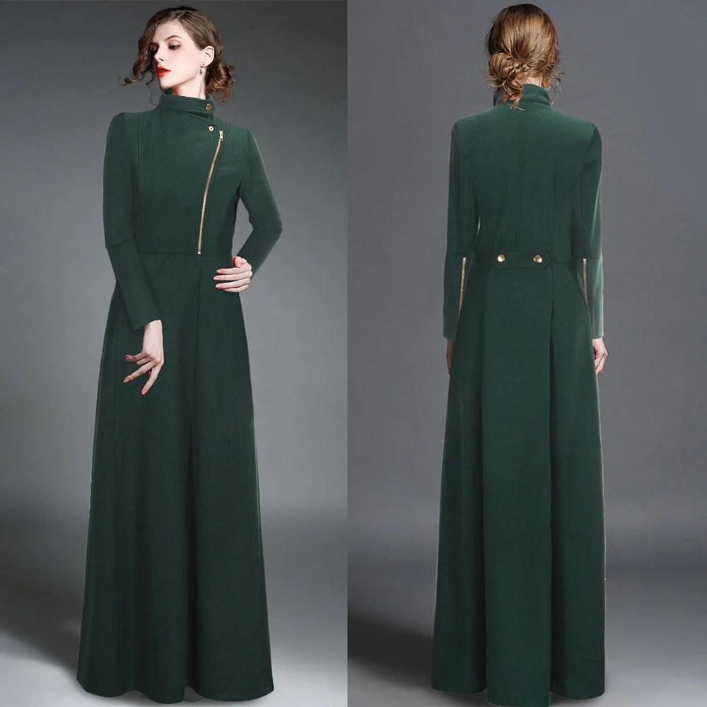 Long Wool Winter Coats for Women