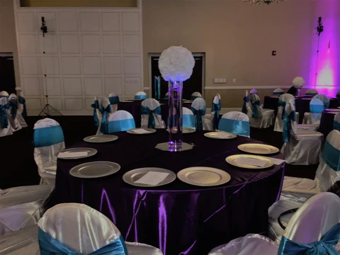 spandex chair cover rental atlanta glider rocking target rent covers banquet universal self tie and