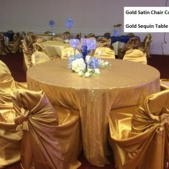 Gold Universal Chair Covers Kids High Self Tie Make Me Elegant