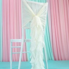 Wedding Chair Sash Accessories Director Replacement Canvas Chiffon Bamboo Decoration Cover Sashes 10 Pieces Make Me Elegant