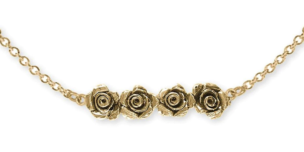rose necklace jewelry 14k