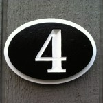 Oval House Number Plaque Up To Three Numbers The Carving Company