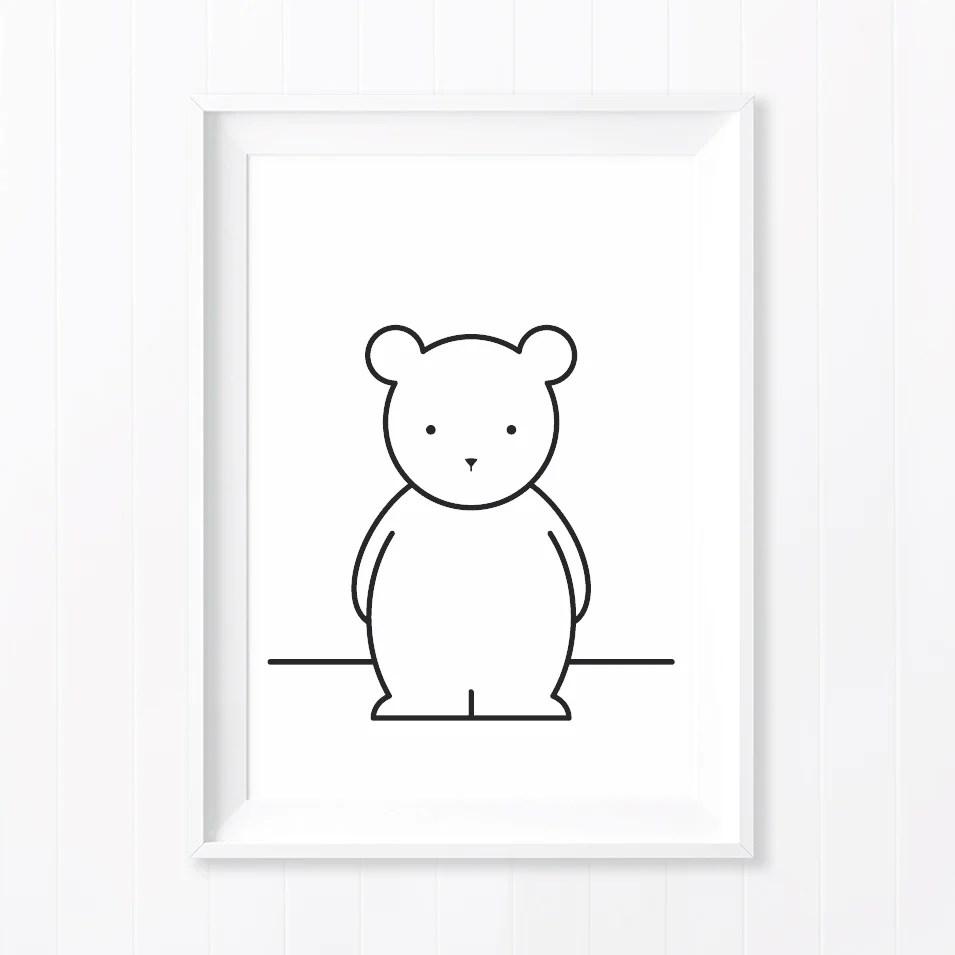 buddy bear monochrome art