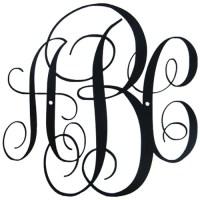 Custom Script Monogram with 3 Letters | Metal Wall Art ...