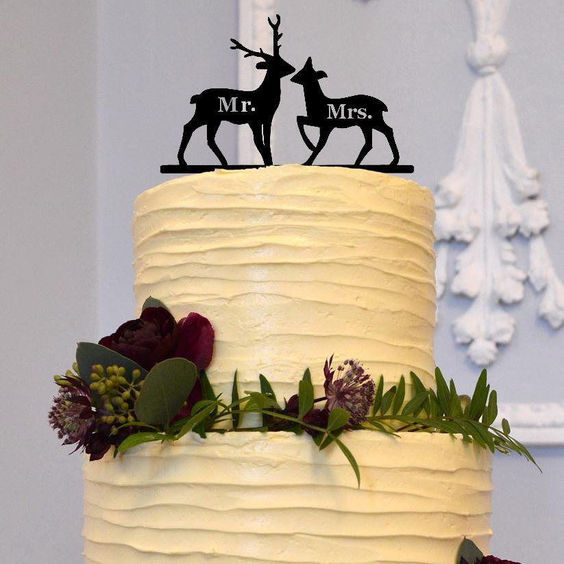 deer cake topper for