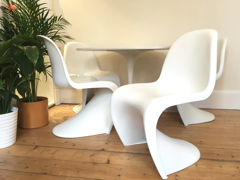 panton s chair video game chairs target verner for vitra habiib mid century modern