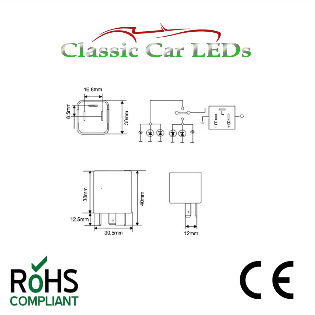 12v electronic indicator flasher relay with oe clicking sound [ 1024 x 1024 Pixel ]