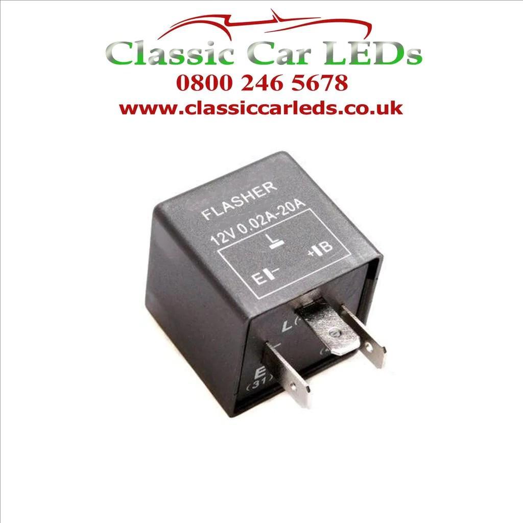 small resolution of ferrari 12v 3 pin electronic flasher hazard relay part 61048000 classic car leds ltd