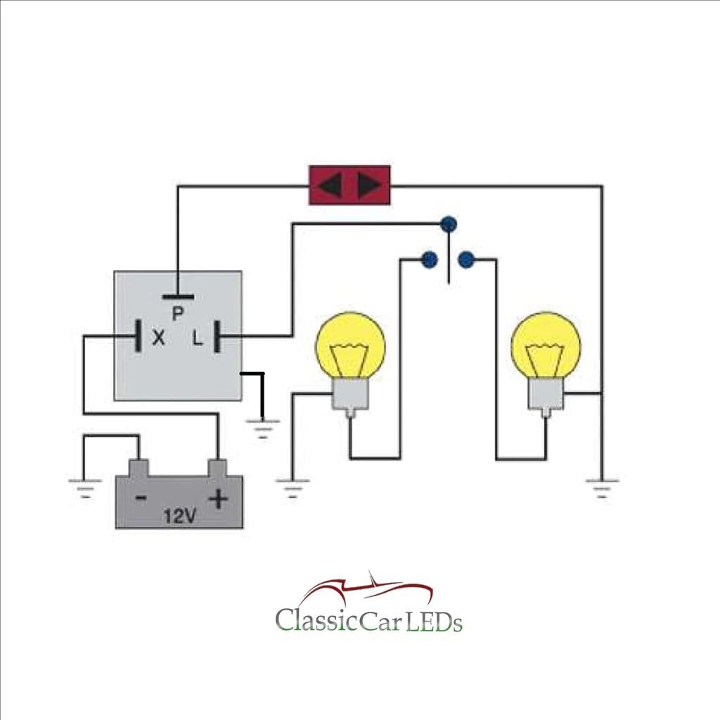 3 pin electronic flasher relay wiring diagram lifan cdi 6 stromoeko de 12v indicator hazard classic car clicking rh classiccarleds co uk manual 2