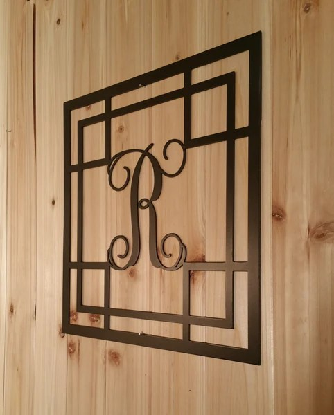 monogram wall hanging metal