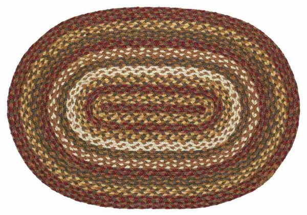 Tea Cabin Braided Jute Rug Oval 27 x 48 in  Allysons Place