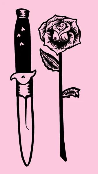 Cute Coffee Mug Wallpaper Pink Knife And Rose Tattoo Phone Wallpaper Free Digital