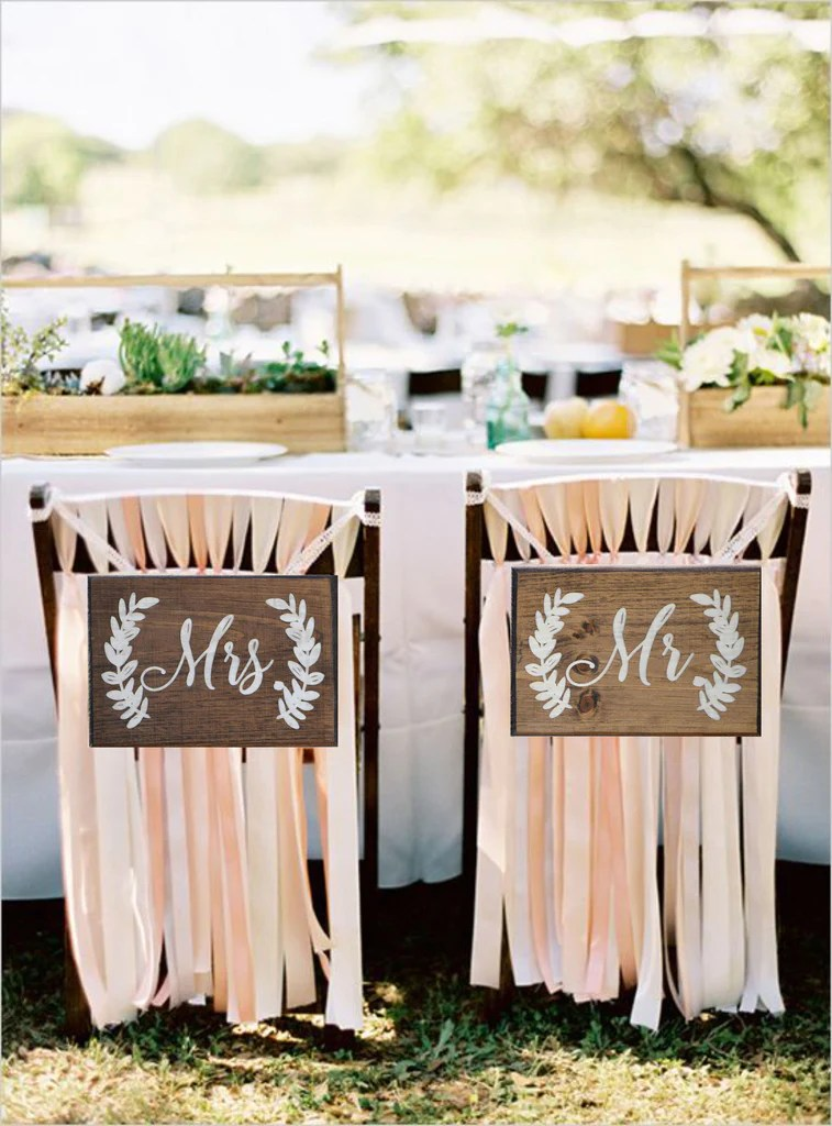mr and mrs chair signs dining table chairs ireland bride groom better together sign country barn babe