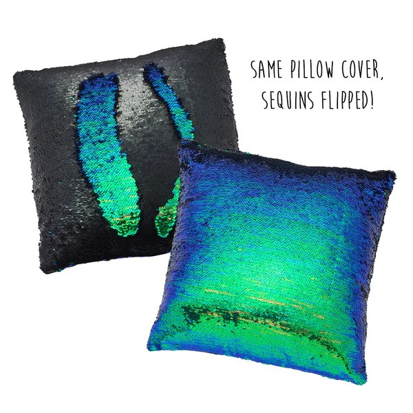 Colorchanging Pillow Cover Iridescent Green  Black  Seatail