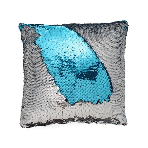 Colorchanging Pillow Cover Silver  Blue  Seatail